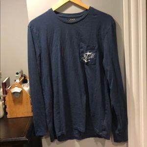 Men's RL long sleeve pocketed shirt